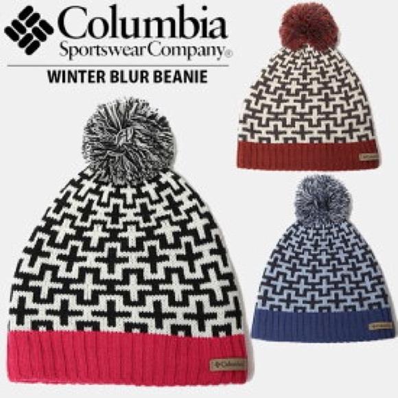 NWT Columbia Winter Blur Pom Pom Beanie 80f86dd9f45